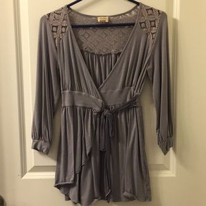NWOT Ella Moss top with tie front